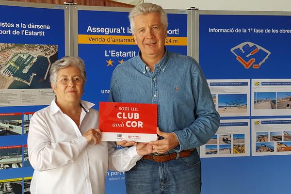 Club Nàutic Estartit rep la distinció de Club amb Cor